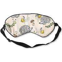 Eye Mask Eyeshade Hedgehog Drawing Sleep Mask Blindfold Eyepatch Adjustable Head Strap preisvergleich bei billige-tabletten.eu