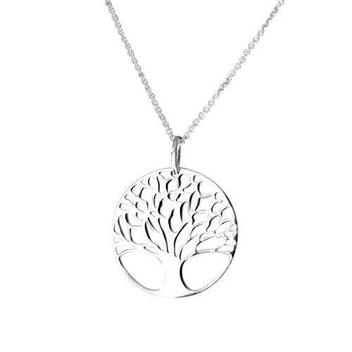 Preisvergleich Produktbild Versilbert Hot Baum des Lebens Anhänger Halskette mit 45,7cm Kette