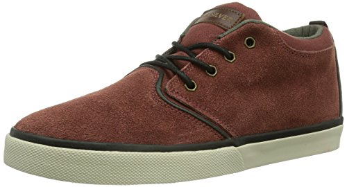 Quiksilver GRIFFIN, Sneaker in pelle scamosciata Uomo, Rosso (Rot (RED/GREY/BLACK/XRSK)), 42