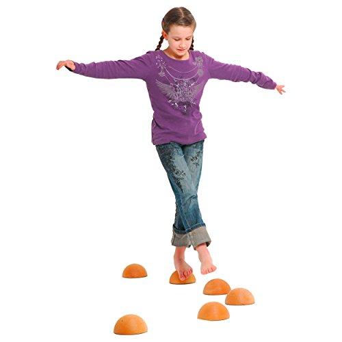 Balancier-Halbkugel aus Massivholz Balancierspiel, Balance Spiel, Kinder