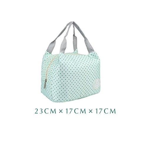 Vivor thermal insulation tote bag lunch bag, Borsa porta pranzo, impermeabile Borsetta bella borsa in tessuto poliestere stampa Pranzo al sacco Pranzo picnic sacchetto-Verde