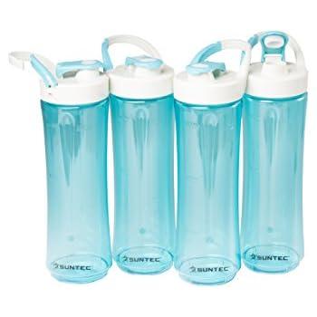 SUNTEC SMO-9936 Smoothie Maker Trinkflasche 2 Sportflaschen Edelstahlverkleidung