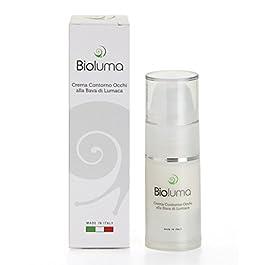 Bioluma Bava di Lumaca Crema Contorno Occhi 15ml Acido Ialuronico Olio di Argan Aloe Vera Ottimo Idratante Nutriente…