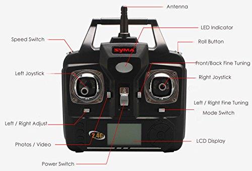 Syma® X5SW Explorers Drohne mit Kamera (FPV, RTF RC Quadrocopter, 2,0MP, WIFI-Kamera, 2,4GHz, 4Kanäle, 6Achsen) weiß - 4
