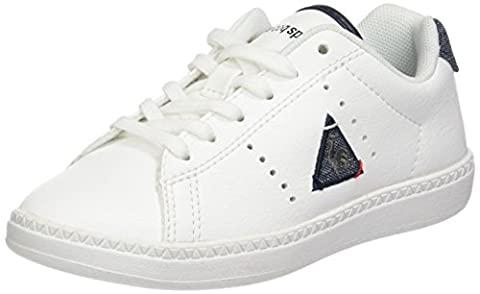 Le Coq Sportif Courtone GS S Lea/2 Tones, Baskets Basses Garçon, Blanc (Optical White/Dress), 37