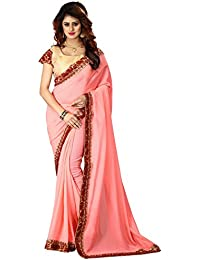 Greenvilla Designs Pink Silk Saree With Blouse