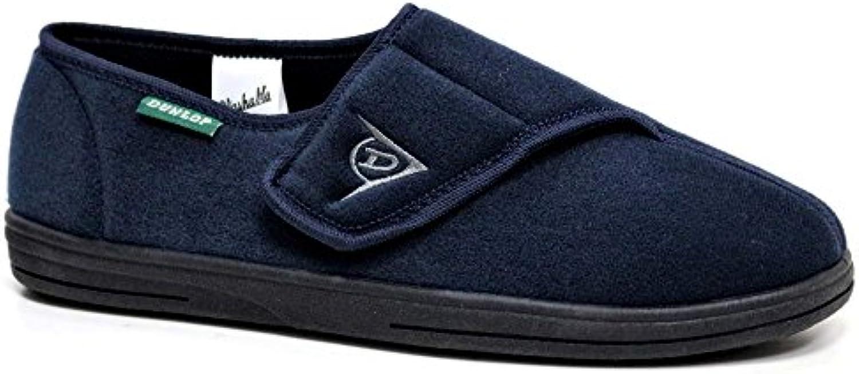 Dunlop - Zapatillas de estar por casa para hombre azul azul marino
