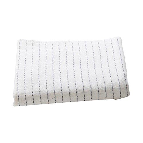 Classic Stripe Baumwolle Badetuch 70* 140Gaze Badetuch-Spa Strandtuch Badetuch Spa Strandtuch-Set, weiß grau blau weiß -