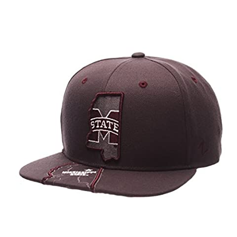NCAA Mississippi State Bulldogs Men's Stateline Snapback Cap, Adjustable Size, Charcoal