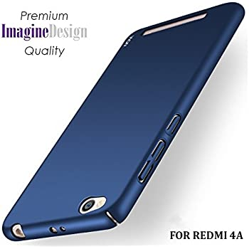 new arrival cc95f 42c2c WOW Imagine All Sides Protection 360 Degree Sleek Rubberised Matte Hard  Back Cover for Xiaomi Mi Redmi 4A (Blue)