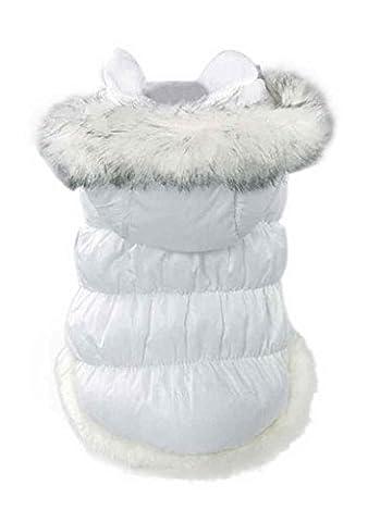 SAMGU Pet cat Chiot Chaud Hoodie Veste Manteau Hiver chaud veste manteau color blanc size Small