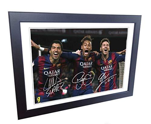 Kicks Firmado Lionel Messi Neymar JN Suárez Barcelona Fotos autógrafo SML