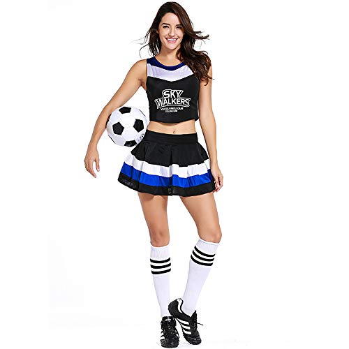 Dress Kostüm Glee Fancy - ZQ Sommer Fußball Baby Uniformen Cheerleader Kostüm Fußball Frauen Kostüme Basketball Cheerleader Kostüme Kostüm für Erwachsene
