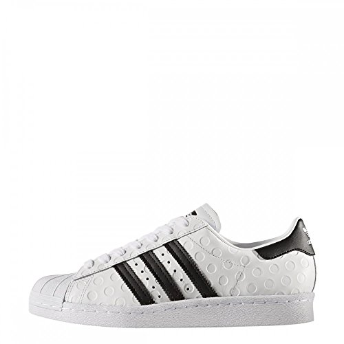 adidas Superstar 80s, Scarpe da Ginnastica Basse Donna Bianco (Footwear White/core Black/footwear White)