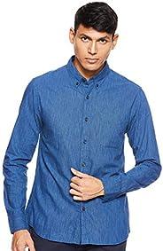 Giordano Men's 01049001 Cotton Oxford Long Sleeve S