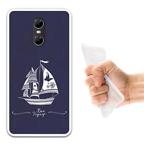 WoowCase Ulefone Gemini Hülle, Handyhülle Silikon für [ Ulefone Gemini ] Marine Style- Schiff Handytasche Handy Cover Case Schutzhülle Flexible TPU - Transparent (Gemini-schiff)