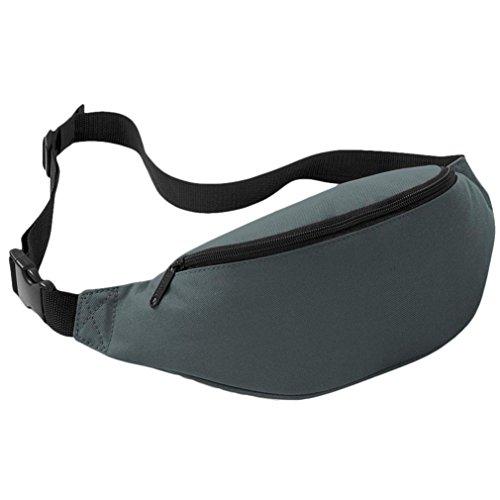 Coolster Sport Outdoor Running Taille Tasche Radfahren Taille Gürtel Tasche Grau