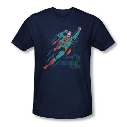 Superman-Maglietta da uomo da hostess di volo, colore: blu scuro blu navy