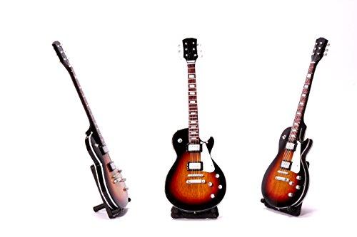 Miniatur E-Gitarre Les Paul XL in versch. Farben Standart LDT Mini Deko Gitarre aus Holz 26cm (Farbe wählbar) (Hellbraun) - Paul E-gitarre Les
