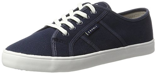 Esprit Italia Lace Up, Sneakers Basses Femme Bleu (Navy 400)
