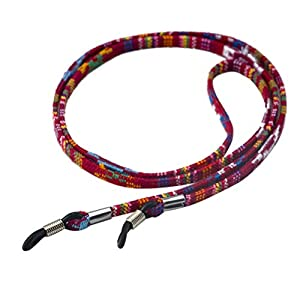 TENDYCOCO Brillenhalter Kette Universal Sonnenbrille Gurt Lesebrille Band (Weinrot)