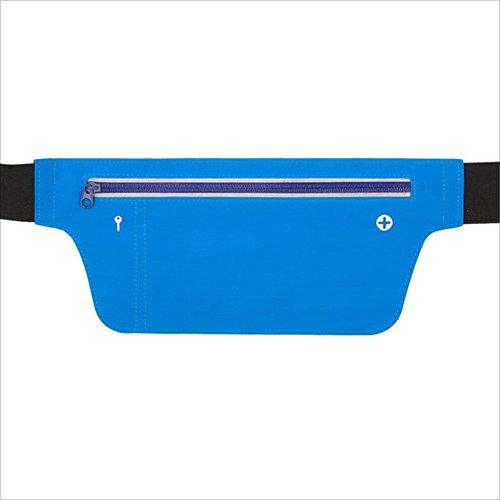 ChenBing Lauftasche mit elastischem Bund Outdoor Running Multifunktions Sport Gürteltasche Elastische Lycra Mobile Waterproof Gürtel Atmungsaktive Radtasche (Farbe : Blau)