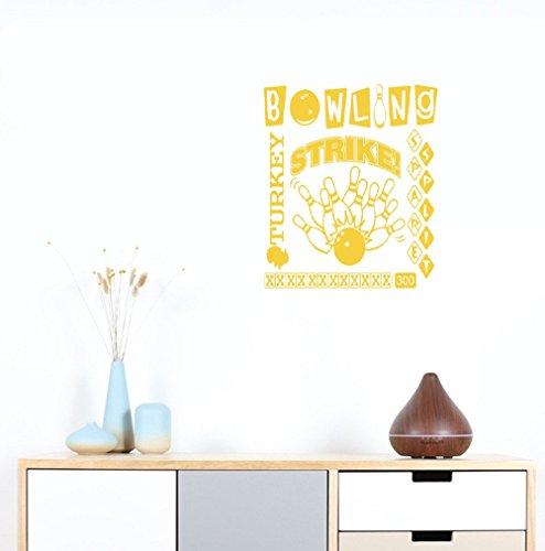 wandaufkleber 3d schlafzimmer 24X24 Bowling Sayings Decal Art Strike Spare Split Gutter Ball Pins Wall Decal Sticker Art Mural Home Decor Quote For Bedroom Living Room -