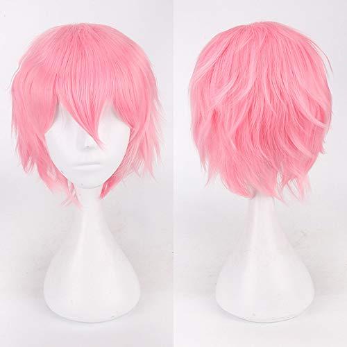 Rifuli®Anime Cosplay Perücke Ausrüstung Multi Color Short Glattes Haar Perücke Anime Party Cosplay Volle Verkauf Perücken 35cm Styling Perücken wig - 70er Jahre Kostüm Zum Verkauf