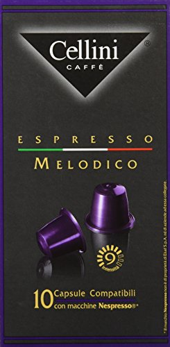 Cellini Espresso Melodico 10 Kapseln, 5er Pack (5 x 50 g)
