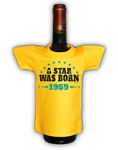 08 Shirt (Tini - Shirts 60 Geburtstag Deko und Geschenkverpackung für Flaschen/Weinflaschen - Jahrgang 1959 : A Star was Born 1959 - Flaschenshirt Geburtstag 60 Jahre)