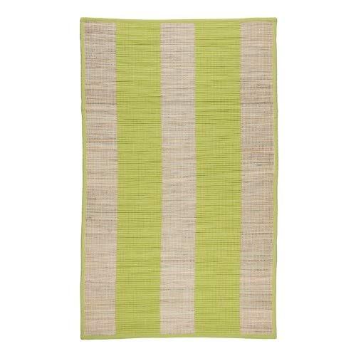 Monbeautapis 118616Ulysse Alfombra algodón Verde