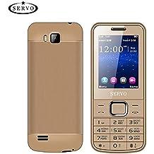 gaeruite SERVO 225 Cellulare 2.4 Pollici Dual SIM Cards Spreadtrum6531CA Telefono, Vibrazione GPRS Fuori dalla Radio FM Bluetooth Tastiera Russa, 1400 mAh Telefono Cellulare Economico