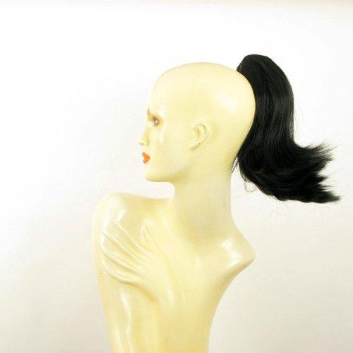 Postiche queue de cheval extension femme courte 28 cm noire ref 9 en 1b