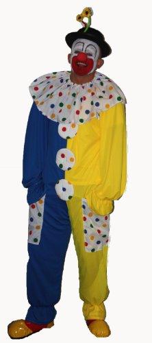 Fancy Dress Kinder Kostüm Clown Blue & Yellow Childs age 8-12 (Clown Kostüme Kid)