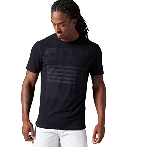 Reebok Herren T-Shirt CrossFit Burnout Tee black S (Burnout Tee Herren)