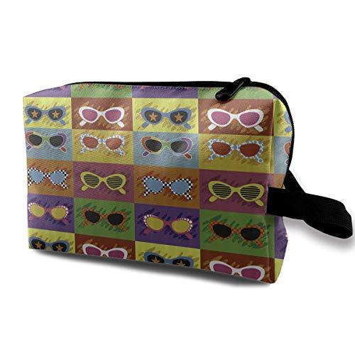 Reise-hängende Kosmetiktaschen Pop Art Style Sunglasses Multi-Functional Toiletry Makeup Organizer coin purses