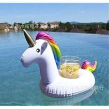 Hemore Portavasos Hinchable Flotadores de Bebidas para Piscina y diversión acuática Pool Flotador Bebidas Decoraciones para