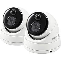 Swann Full HD 1080p Thermal Sensing CCTV Security Dome Cameras, 2 Pack