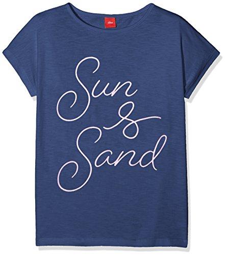 s.Oliver Mädchen T-Shirt 66.804.32.5085, Blau (Dark Blue 5724), 164 (Herstellergröße: L/REG)