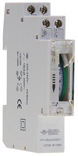 Horloge programmable journalière pour baie de montage, 24 heures 15 min Steps 230 V, max. -Boîtier...