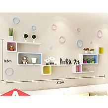flashing lights- Moderna sala de estar minimalista dormitorio parcela estante creativo decorativo estante de la pared