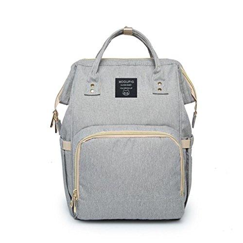 Hipster Bag Messenger Crossbody (JIANGFU Mumie Tasche, Mama Beutel-Wickeltasche [große Kapazitäts] Babysachen-Reiserucksack Designer [Krankenpflege-Tasche] (Gray))