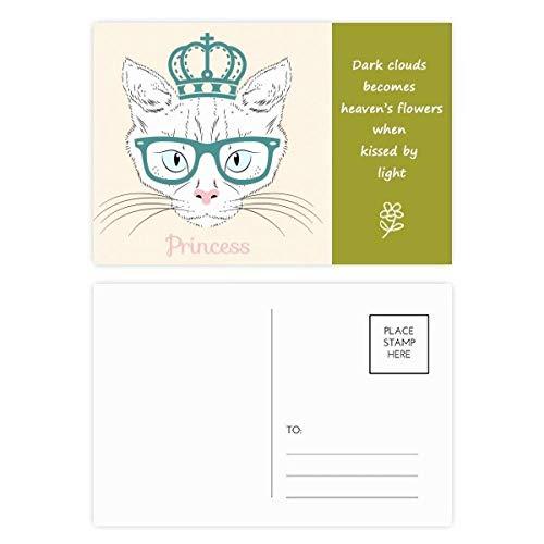 ronen-Sonnenbrille, weiße Katze, Prinzessinnen-Poesie, 20 Stück ()