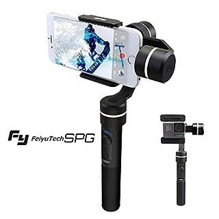 FeiyuTech SPG Gimbal Stabilisator für iPhone Smartphones und Sportkameras Action Camera GoPro 360 ° Drehbar mit APP-Steuerung und Bluetooth-Steuerung