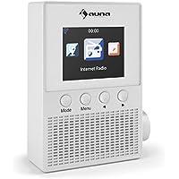 """auna • Digi Plug • Steckdosen Internetradio • Digitalradio • WLAN-Radio • integrierter Breitbandlautsprecher • Remote-Control • 2,4 """" TFT-Display • Zwischenspeicher • Wecker • Uhrzeitanzeige • Wetteranzeige • regulierbare Bildschirmhelligkeit • weiß"""