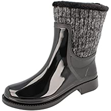 22a147fc58932e GOSCH SHOES Sylt - Damen Gummistiefel Hochwasser gefüttert Black - Made in  EU