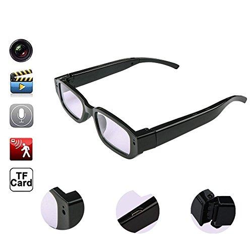 Oumeiou Real Full HD 1080P USB2.0 Gafas de la cámara espía Gafas Mini cámara oculta Grabadora de video Videocámara DV Grabadora de voz DVR 5MP para WinXP / 2000 / Vista / Windows7 Alta definición