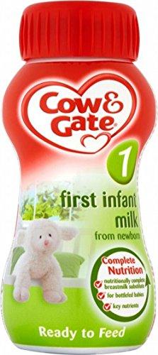 Cow & Gate premier bébé né de lait prêt à servir l'étape 1 (200ml) - Paquet de 6
