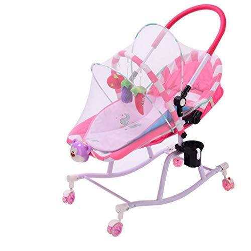 steher-Baby Bodyguard Chair - Schaukelstuhl - Multifunktionaler Leichter Schaukelstuhl Für Neugeborene, Kleinkinder, Kinder Von 0 Bis 2 Jahren, Schnelle Montage (Farbe : Rosa) ()