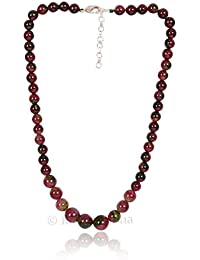 Multi Tourmaline Color Quartz Necklace Chain Layout With Clasp, Daily/party/office/casual Wear Jewelry For Girls...